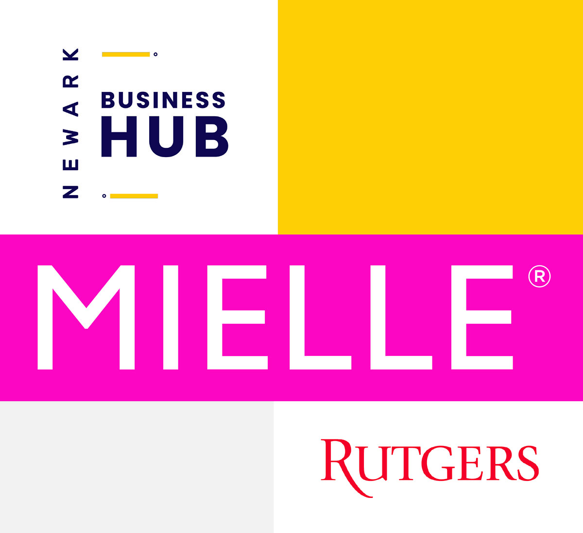 Newark Business Hub Mielle Rutgers logo for business course certificate